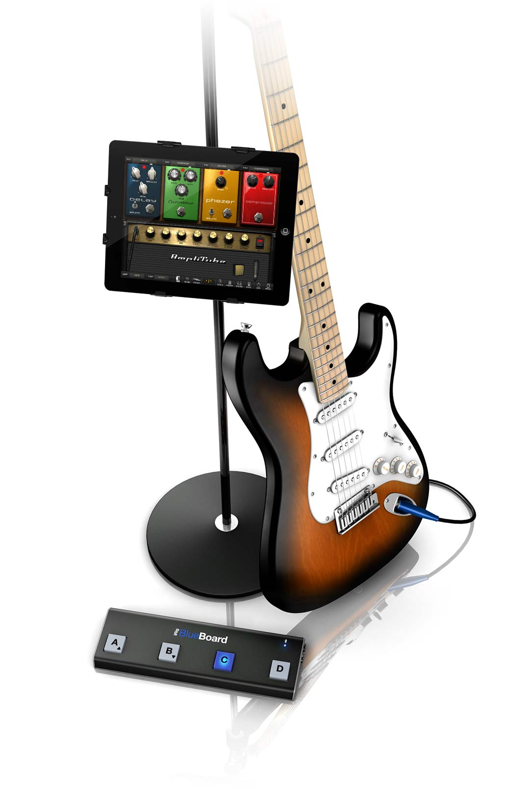 Ik Multimedia Irig Blueboard D Box Fuse 30 Amp Square Features Four Backlit Soft Touch Pads Housed In A Sturdy Stage Worthy Chassis Two Trs Expansion Jacks For Connecting Additional Midi