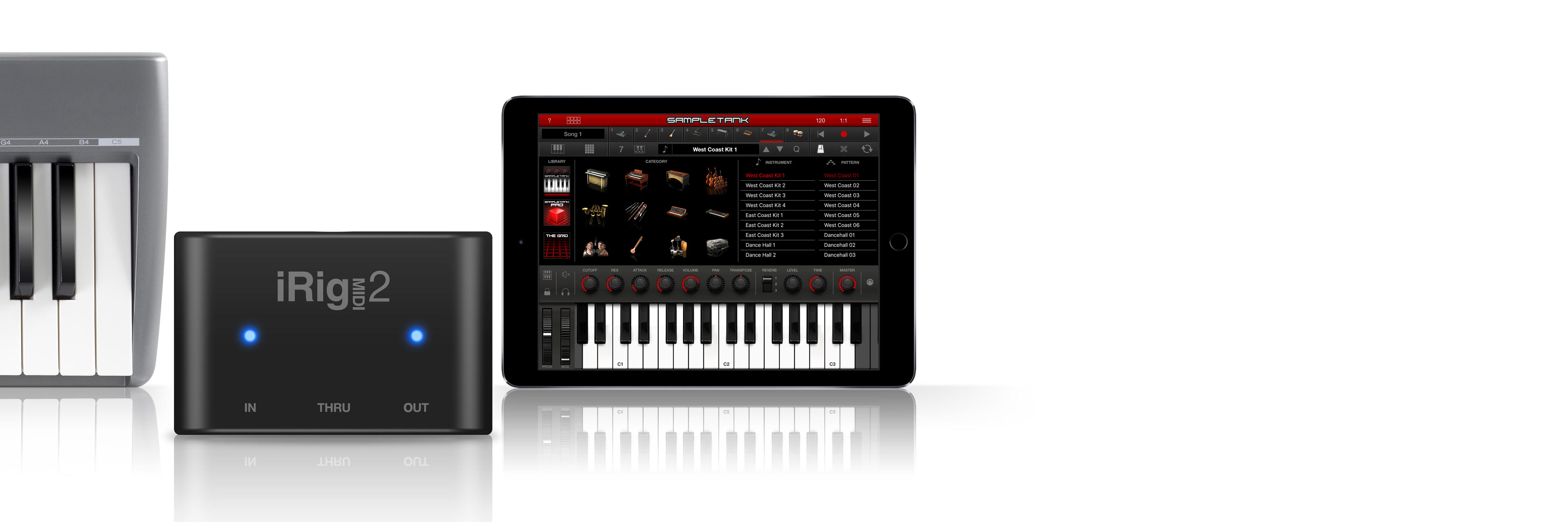 Universal MIDI interface for iPhone/iPod touch/iPad and Mac/PC