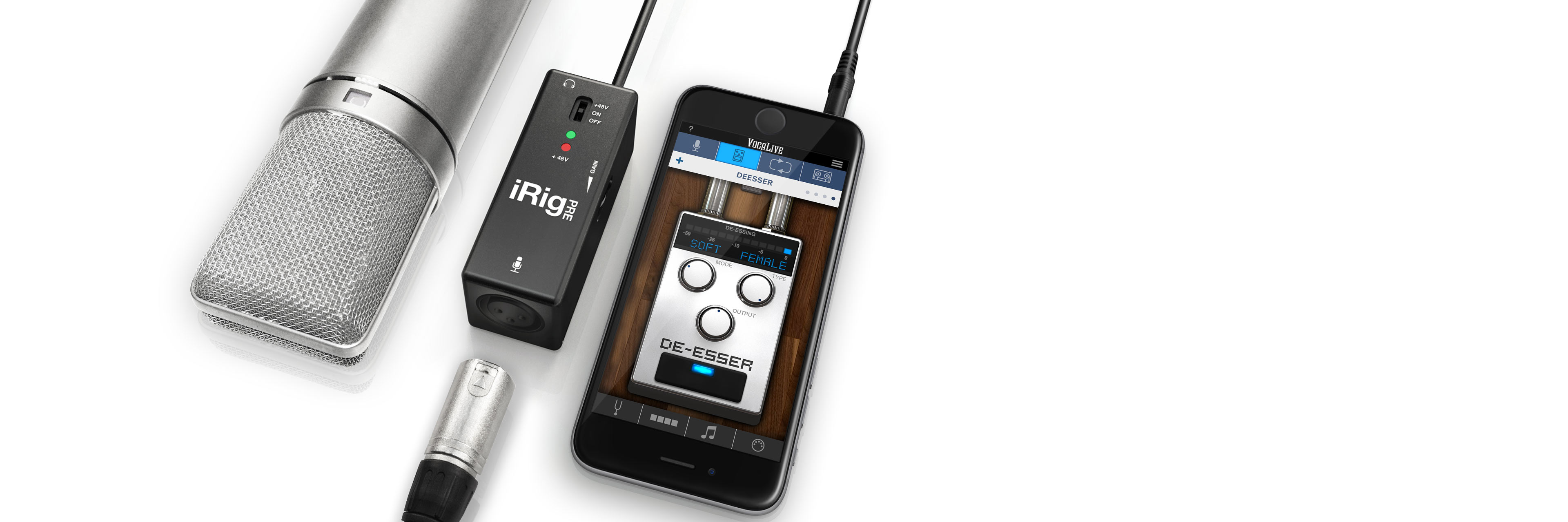 Ik Multimedia Irig Pre Xlr To Microphone Plug Wiring Diagram Interface For Ios And Android