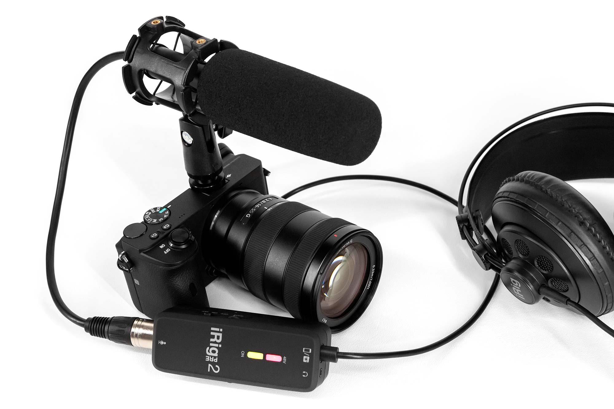 iRig Pre 2 with DSLR Camera