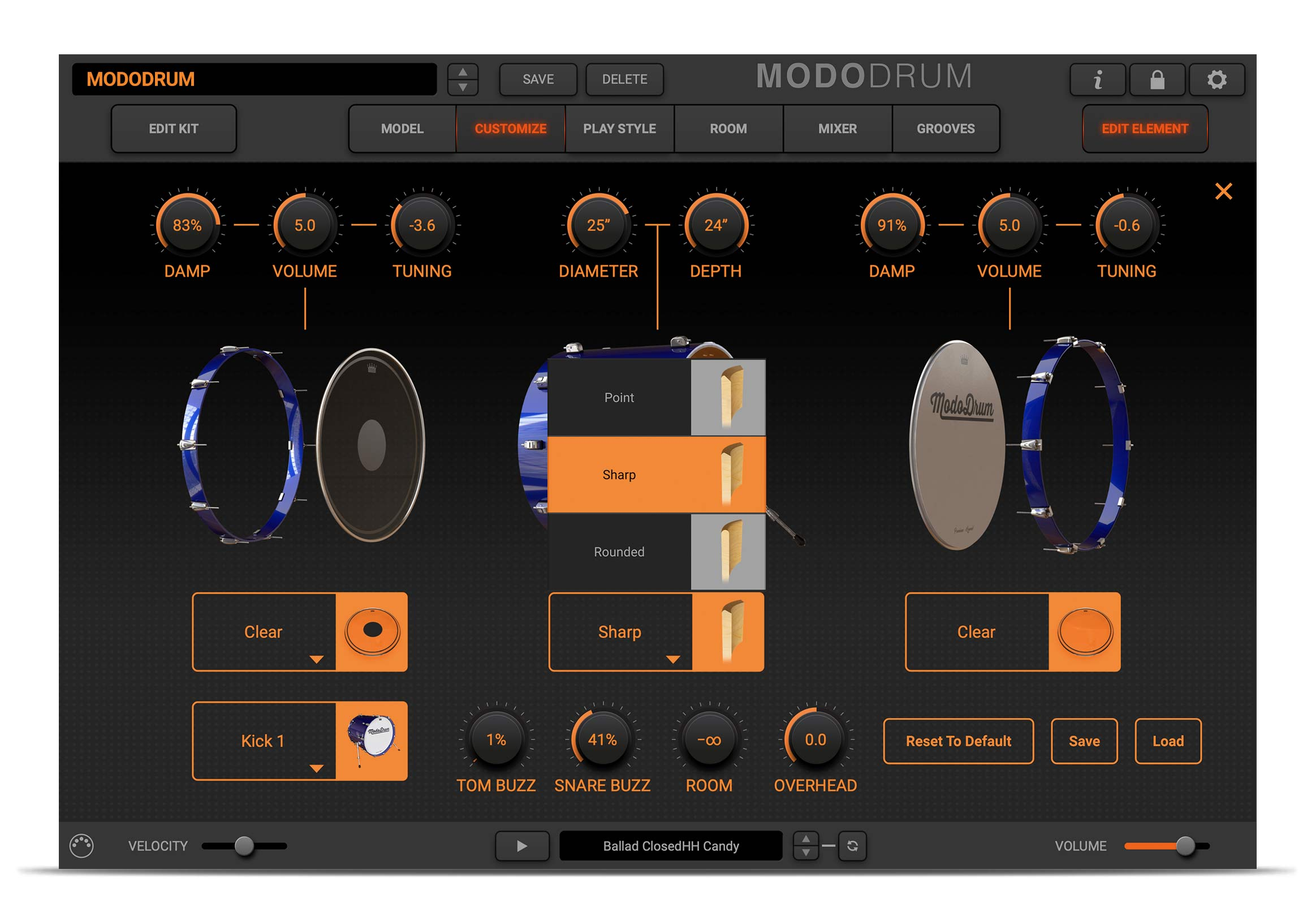 MODO DRUM customization