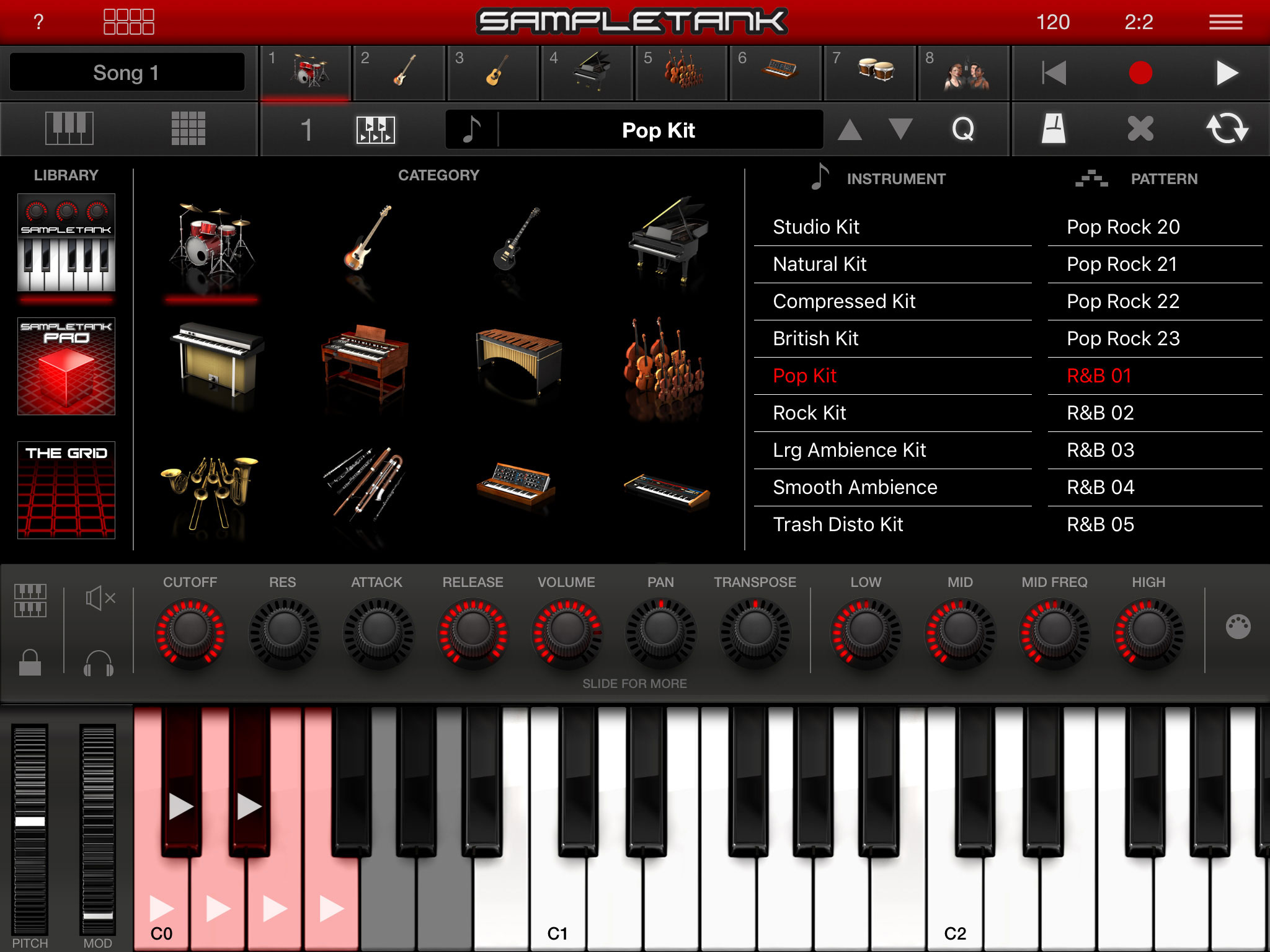 Ik Multimedia Sampletank Ios Two Way Switch Wiring Diagram And Intermediate Also 2 Light Instrument Browser Interface