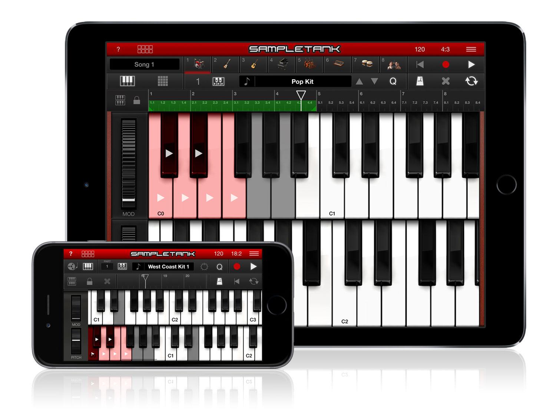 Ik Multimedia Sampletank Ios Two Way Switch Wiring Diagram And Intermediate Also 2 Light St2 Ip6 Ipair Keyboard