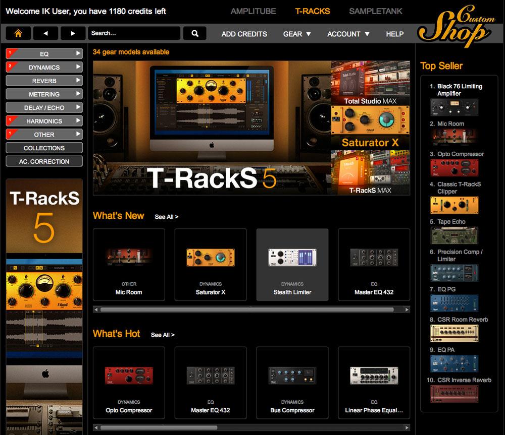 Ik Multimedia T Racks 5 Cs Circuit Design Suite Screenshot 34 Custom Shop Home