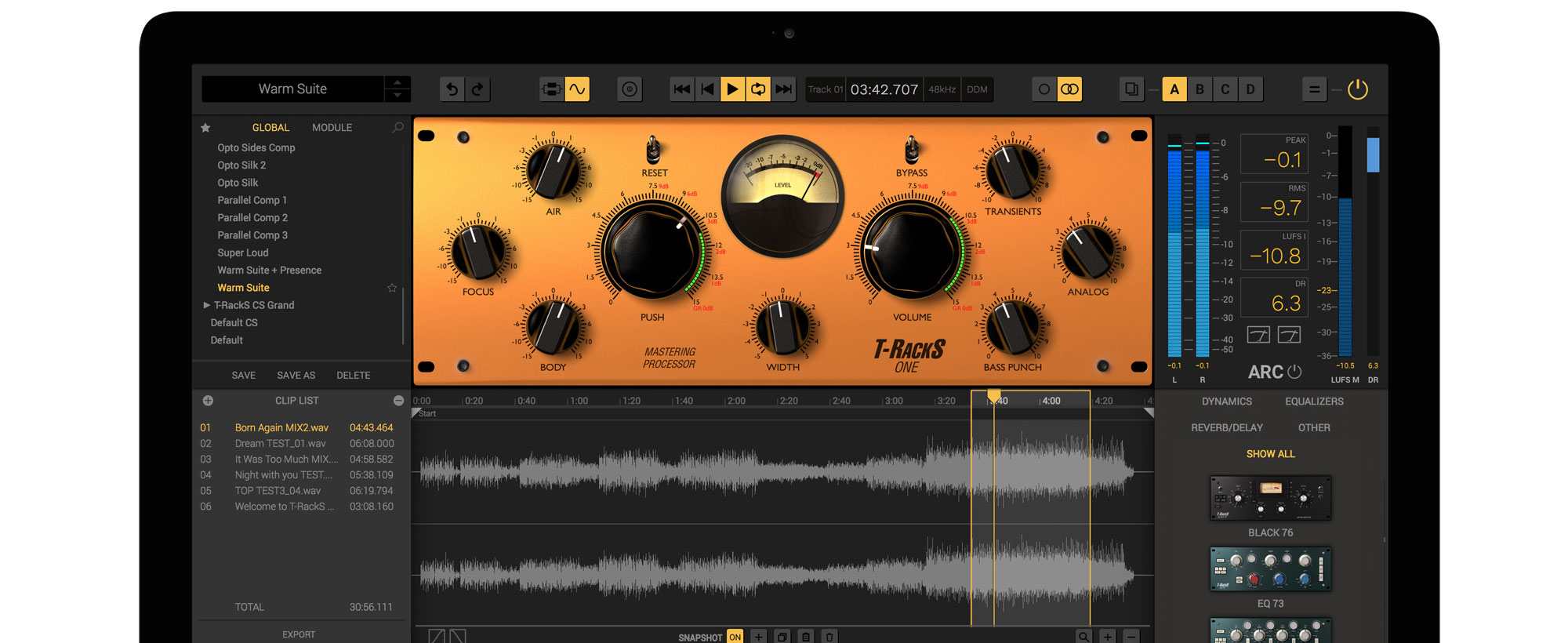 Ik Multimedia One Audio Enhancement For Analog Amplifier It Includes An Eq Compressor Harmonic Exciter Low End Enhancer And Limiter That Will Let Anyone Achieve Professional Quality Results Quickly Easily
