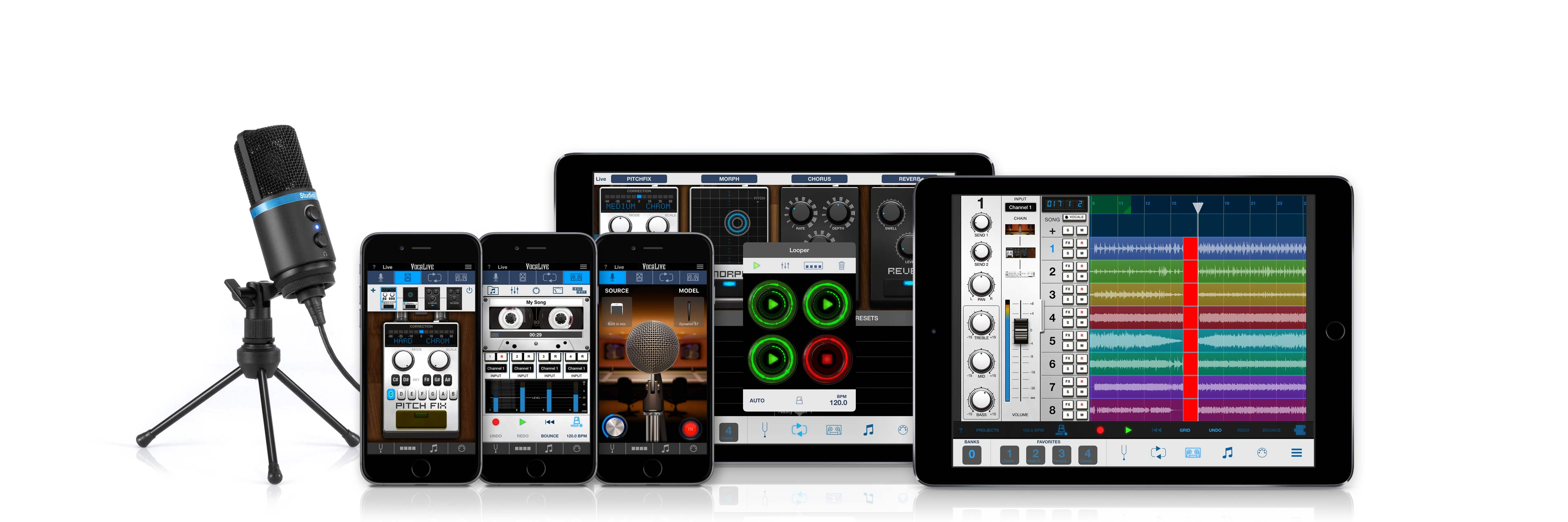 Real-time vocal effects for the stage or studio